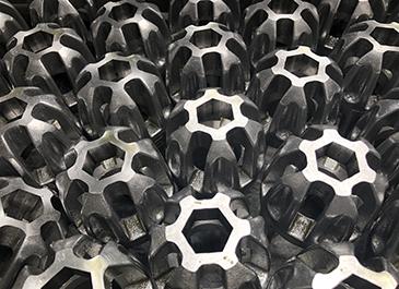 ブローチ(六角)加工 製作サンプル